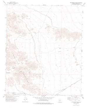 Butterfield Pass topo map