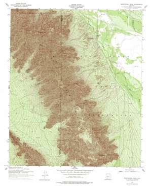 Montezuma Peak topo map