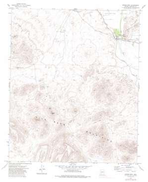 Spring Mountain topo map