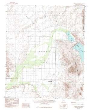 Dendora Valley topo map