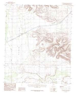 Oatman Mountain topo map