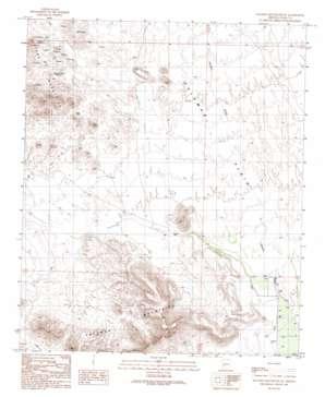 Palomas Mountains Se topo map