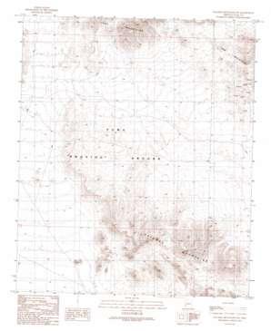 Palomas Mountains Sw topo map