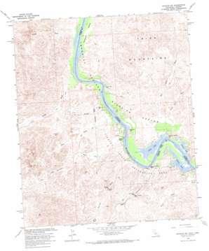 Picacho Sw topo map