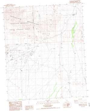 Gables Wash topo map