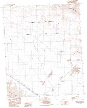 East Of Acolita topo map