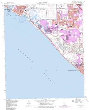 Seal Beach topo map