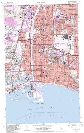 Long Beach topo map