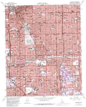 Inglewood topo map