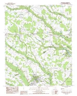 Timmonsville topo map