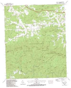 Mulky Gap USGS topographic map 34084g1