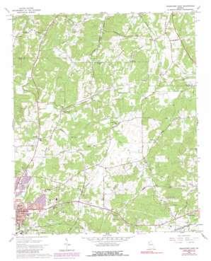 Cedartown East topo map