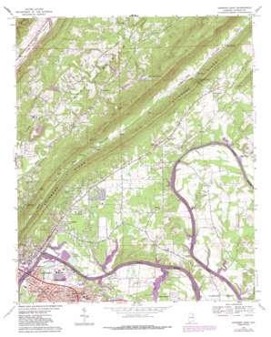 Gadsden East topo map