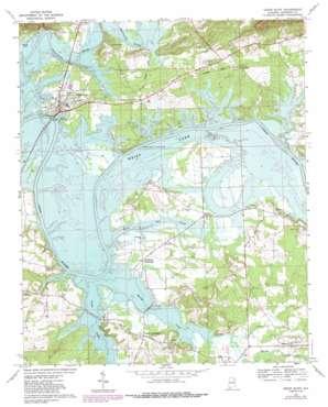 Cedar Bluff USGS topographic map 34085b5