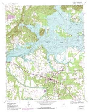 Centre topo map