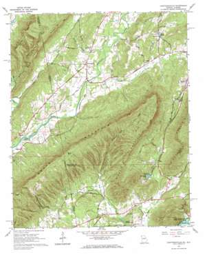 Chattoogaville topo map