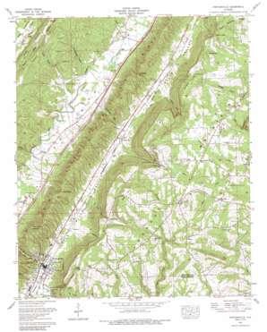 Portersville topo map