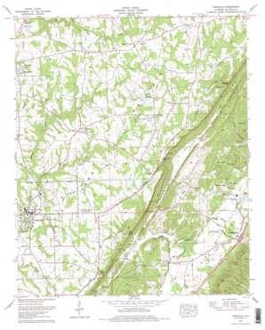 Crossville topo map
