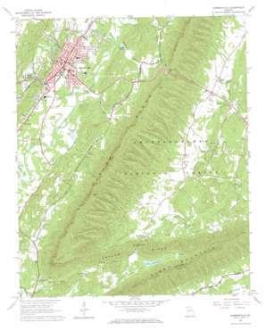 Summerville USGS topographic map 34085d3