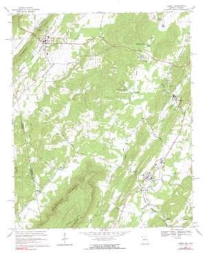 Lyerly topo map