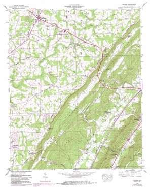 Chavies topo map