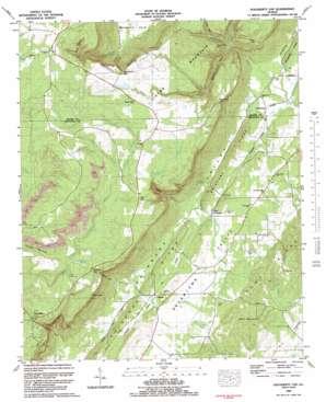 Dougherty Gap topo map