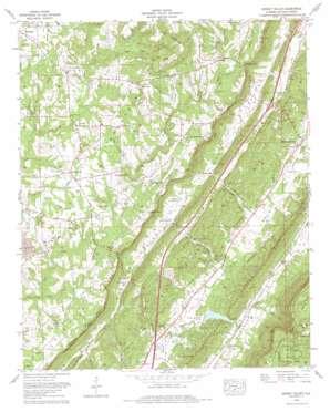 Dugout Valley topo map