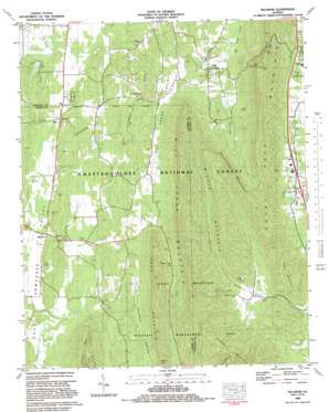 Villanow topo map