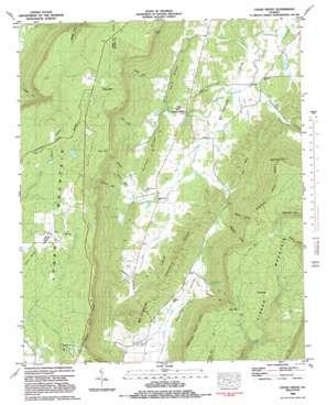 Cedar Grove topo map