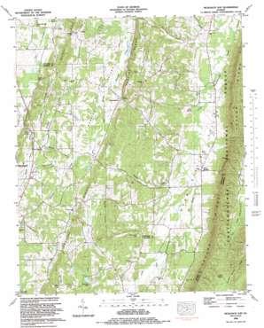 Nickajack Gap topo map