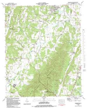 Kensington topo map