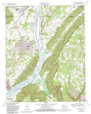 Bridgeport topo map