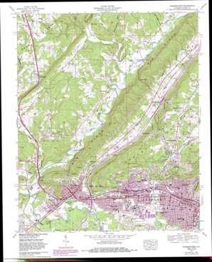 Gadsden West topo map