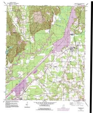 Smithville topo map