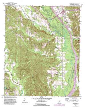 Beans Ferry topo map