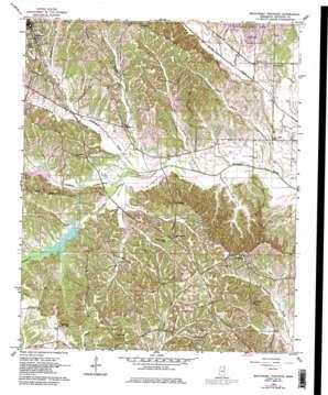 Southeast Pontotoc topo map