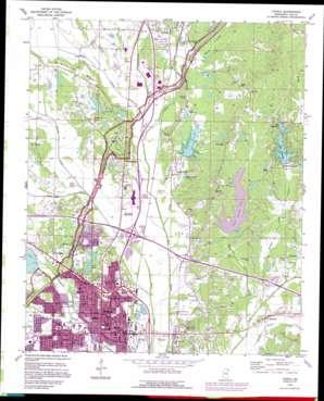 Tupelo topo map
