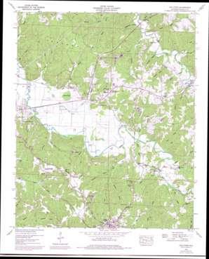Halltown topo map