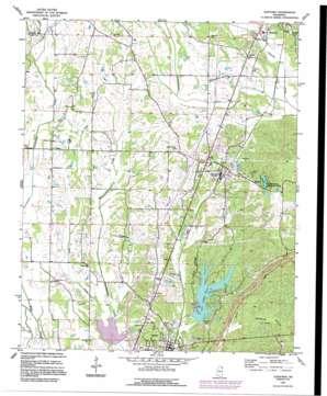 Guntown USGS topographic map 34088d6