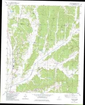 Keownville topo map
