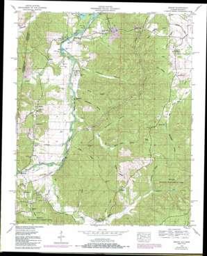Bishop topo map