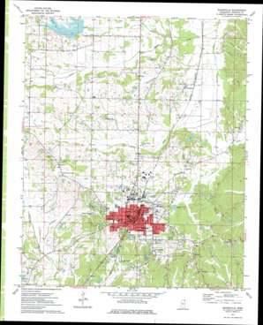 Booneville topo map