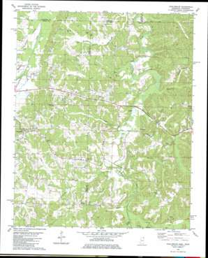 Chalybeate USGS topographic map 34088h7