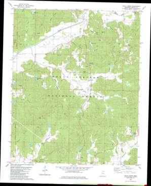 Chilli Creek topo map