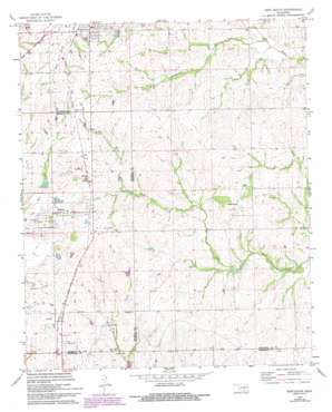 Roff South topo map