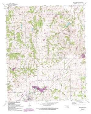 Roff North topo map