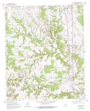 Overbrook topo map