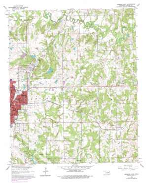 Ardmore East topo map