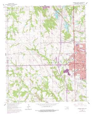 Ardmore West topo map