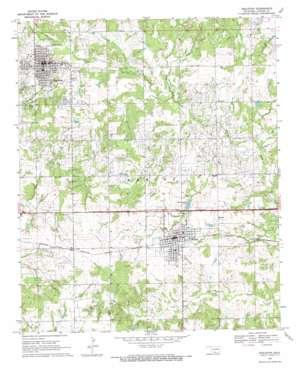 Healdton topo map
